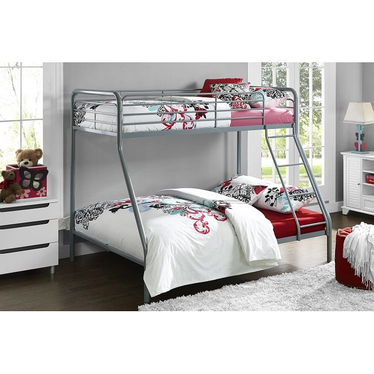 Contemporary Metal Furniture Single 3ft And Double 4ft Bunk Bed Oak Furniture House